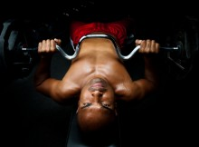 Intense Weight Lifter Portrait