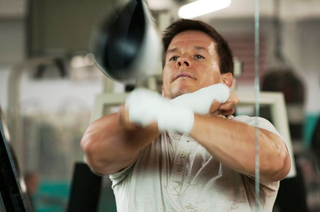 Wahlberg hit the speed bag to work on his boxing skills for the movie.
