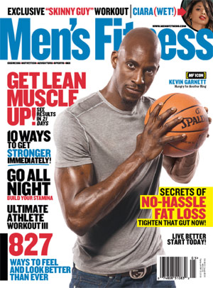 Garnett made the cover of Men's Fitness due to his incredible training regimen and competitive spirit.