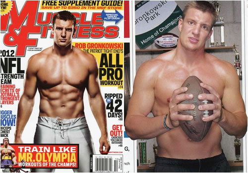 Gronk was featured in Muscle & Fitness Magazine due to his incredible physique and athletic ability.
