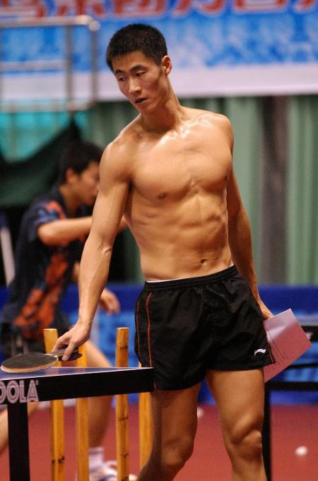 Asian ping pong player playing with their ping pongs - 2 1