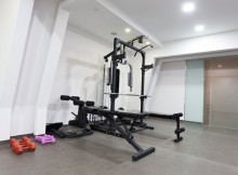 Exercise equipment in private gym
